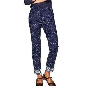 Boden Blue Richmond Polka Dot Stripe Ankle Pants